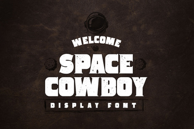 Space Cowboy - Clean and Distressed - Display Serif Font