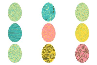 Easter egg hunt clip art, Easter egg clipart, Colorful painted eggs clip art