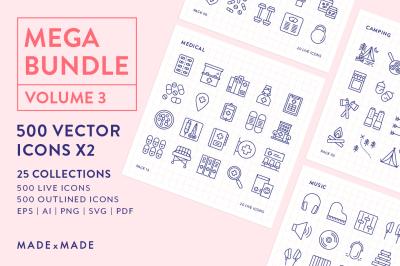 Line Icons – Mega Bundle Vol 3