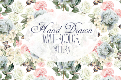 17 Hand Drawn Watercolor Patterns