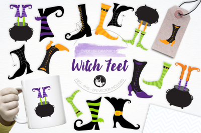 Witch Feet graphics and illustrations