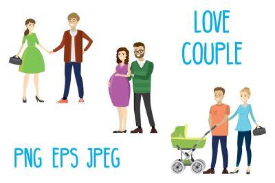 Set three lovers couples