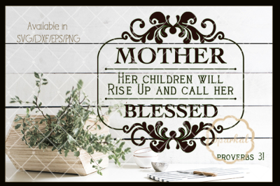 Mother's Day Cutting File - Faith based graphics