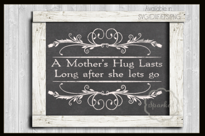 Mother's Day Cutting File - Framed Quote