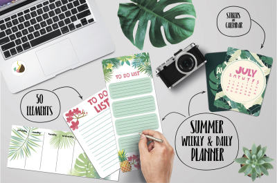 Weekly and daily summer planner