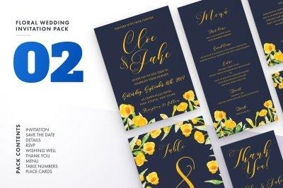 Floral Wedding Invitation Set 2