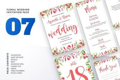 Floral Wedding Invitation Set 7