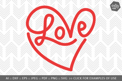 Infinity Heart - SVG, PNG & VECTOR Cut File