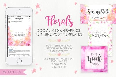 Florals Social Media Graphics