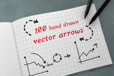 100 Hand Drawn Vector Arrows