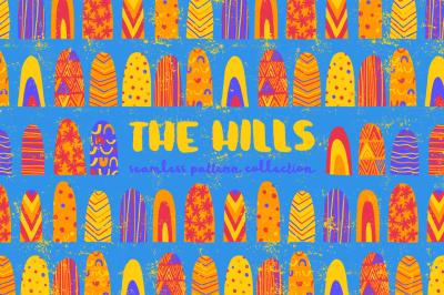 The Hills - Seamless Hand Drawn Patterns
