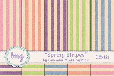 Spring Stripes Digital Paper