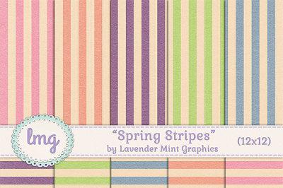 Spring Stripes Digital Paper