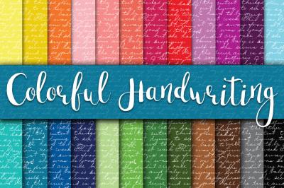 Colorful Handwriting Digital Papers