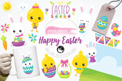 Happy Easter illustrations and graphics