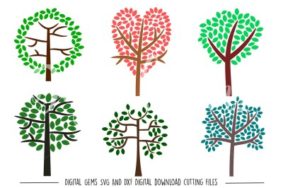 Tree SVG / DXF / EPS / PNG files