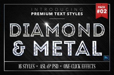 Diamond & Metal #2 - 16 Text Styles