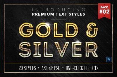 Gold & Silver #2 - 20 Text Styles
