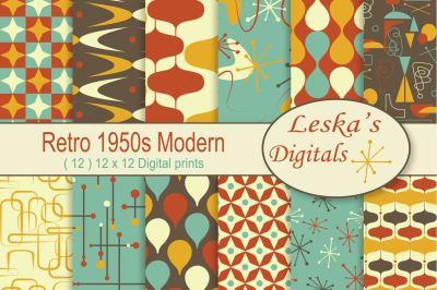 Mid Century 1950s Modern - Digital Paper