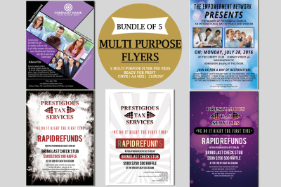 Multi-Purpose Flyers Bundle