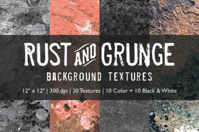 Rust & Grunge Background Textures