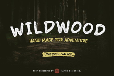 Wildwood Brush Font