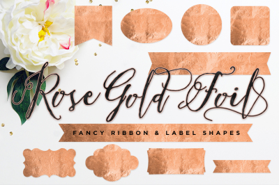 Gold Foil Ribbon & Label or Frame Shapes