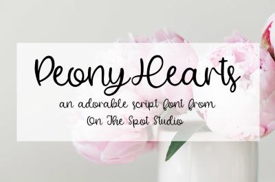 Peony Hearts