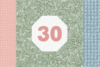 30 Hand Drawn Patterns