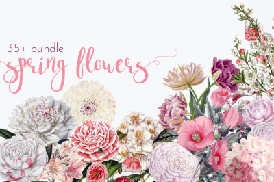 Spring Flower Vintage Bundle