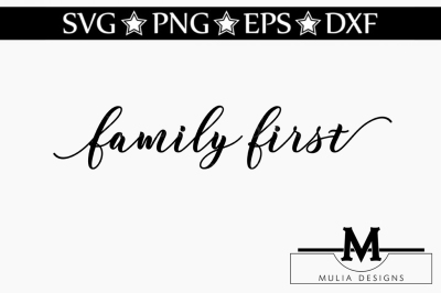 Family First SVG