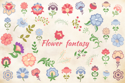 Flower fantasy set