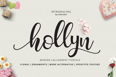 Hollyn Script + Ornaments Font