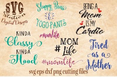 All About Mom / SVG DXF PNG EPS Cutting File Silhouette Cricut Scal