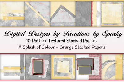 A Splash of Color Stacked Background Papers