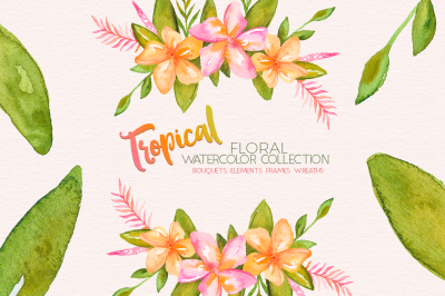 Tropical Watercolor Floral Collection