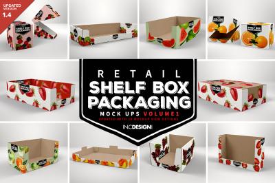 Retail Shelf Box Packaging Mockups Vol.1