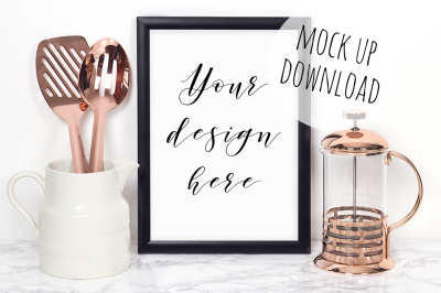 Kitchen Frame Mockup Styled Photo