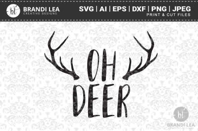 Oh Deer SVG Cutting Files