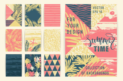 10 summer background templates.
