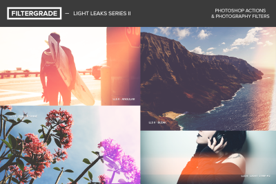 Light Leaks Series II Photoshop Actions