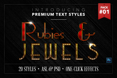 Rubies & Jewels #1 - 20 Text Styles