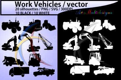 work vehicle svg vectors