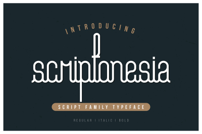Scriptonesia Font Family