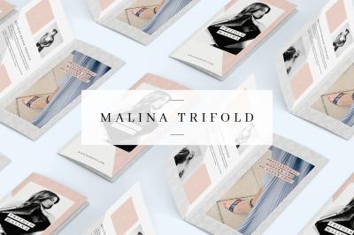 MALINA Trifold Brochure + Pattern