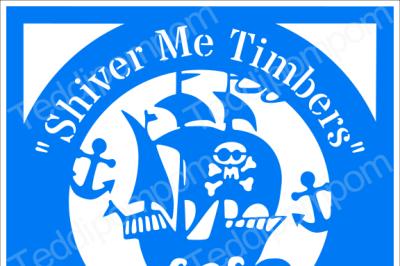Boys SVG paper cutting file, Shiver Me Timbers Pirate Ship Papercut template, SVG Cutting File, Cricut & Silhouette Cameo, Scrapbooking, Card Making,Digital Upload
