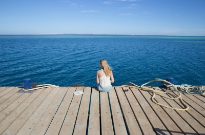 The girl on the pier