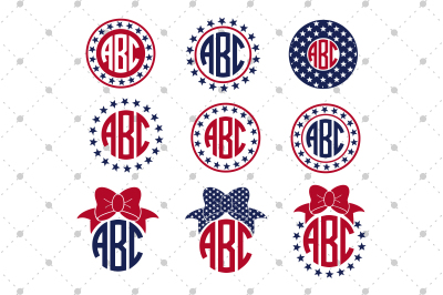 4th of July Monogram frames files