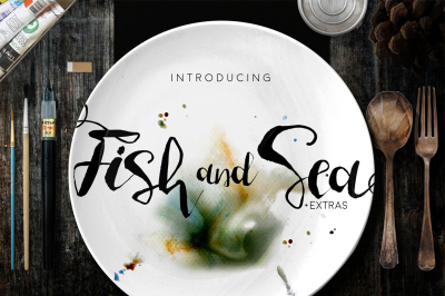 Fish and Sea Typeface +Extras