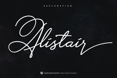 Alistair Signature Font